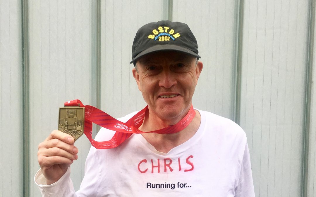 Congratulations to Chris Williamson for completing London  Marathon  2019