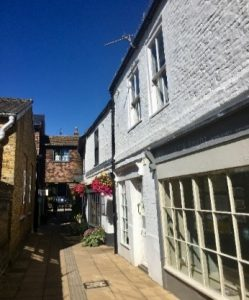 Some of the wonderful Georgian smugglers' alleyways in Deal Middle Street Conservation Area