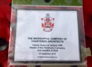 Photos of the Architects' Company wreath at Deal Memorial Bandstand