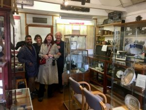 Left to right: Nick Naidu, Sophia Greenhough, Sylvia Hyde and Peter Hirst amongst a hoard of nautical treasures in the Deal Maritime Museum.