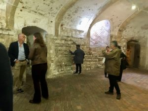 Patrick Khan and others exploring the castle