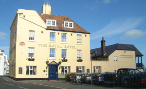 The Royal Hotel, Deal, where the Admiral Lord Nelson often stayed with his Lady Emma Hamilton